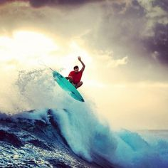 For people who surf, it's addicting. It's the power of the waves, I'm sure. ♥