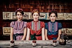 These ladies are too cute in their Dirndl. by Lena Hoschek