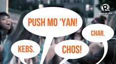 PHOTOBOOTH: Backdrop and props using Pinoy slang expression speech bubbles