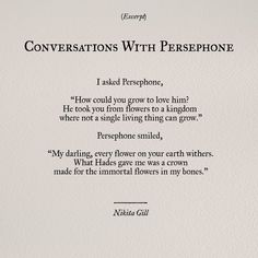 Added hades and persephone, hades y perséfone, greek gods, greek mythology quotes, Poem Quotes, Words Quotes, Wise Words, Sayings, Drunk Quotes, Qoutes, Pretty Words, Beautiful Words, Greek Gods And Goddesses