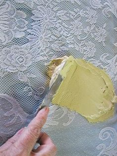 Diy Faux Lace Texture Painted Furniture Plaster Crafts - Diy Faux Lace Texture Painted Front Doors Stencil Painting Painting Pressed Wood Lace Stencil Lace Painting Painting Tips Stenciling Furniture Makeover Lace Painted Furniture S Jaw Dropping Decor # Decoupage Furniture, Hand Painted Furniture, Diy Furniture, Resale Furniture, Furniture Design, Plaster Crafts, Plaster Art, Decorative Plaster, Lace Stencil