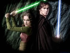 Anakin and Padme  someone should totally give padme a light saber