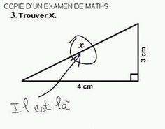 Copie d'un examen de maths
