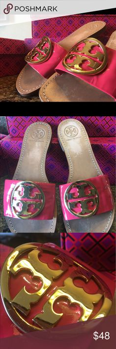 Tory Burch slide on sandals sz 8 Gently pre owned pair of Tory Burch slip on sandals Tory Burch Shoes Sandals
