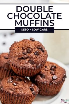Rich and indulgent, these keto chocolate muffins from I Can't Believe It's Low Carb are a decadent treat that will make your low carb lifestyle easy to stick to. These almond flour and coconut flour chocolate muffins are only 3.5 NET Carbs per muffin making them something you can indulge in any day of the week. #recipe #muffins #keto #easy #chocolate #lowcarb #ketobreakfast #BestLowCarbMeals Low Carb Mexican Food, Mexican Food Recipes, Muffin Recipes, Snack Recipes, Breakfast Recipes, Healthy Low Carb Recipes, Keto Recipes, Coconut Flour, Almond Flour