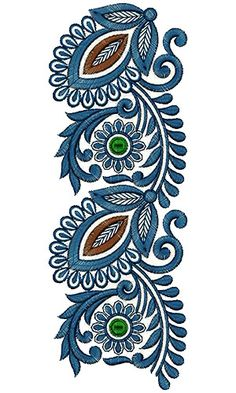 Embroidery Design Latest 14904 Latest Embroidery Designs, Border Embroidery Designs, Machine Embroidery Designs, Embroidery Patterns, Zardozi Embroidery, Lace Embroidery, Simple Embroidery, Boarder Designs, Paisley Art