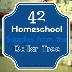 Are you in need of school supplies? Check out what you can get at the dollar tree. This is a great list of 42 Dollar Tree Homeschool Supplies.