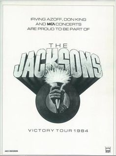 Vintage poster of the victory tour!