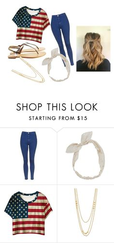"""""""FOURTH OF JULY"""" by michelle-buege ❤ liked on Polyvore featuring Topshop, Sambag, Carole, Gorjana, cute, love, beautiful, classy and comfy"""