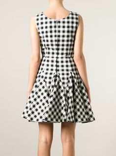 Dolce & Gabbana Vestido xadrez evasê