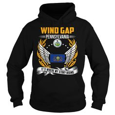 (Top 10 Tshirt) Wind Gap Pennsylvania Its Where My Story Begins at Sunday Tshirt Hoodies, Funny Tee Shirts