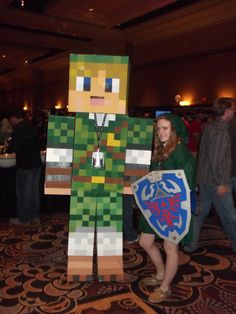 Minecraft Link Cosplay by ~CharmandersFlame on deviantART  •Awesome Cosplay ideas! Not just the minecraft link too!•