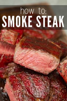 Smoked Steak: The Ultimate Guide Smoked steak is an incredibly delicious way to prepare steak. The steak comes off the grill juicy and full of flavor. You don't need to get fancy with seasonings, as the smoke does most of the work for you. Smoked Steak Recipe, Smoked Meat Recipes, Grilled Steak Recipes, Smoked Beef, Beef Recipes, Grilled Steaks, Grilled Meat, Recipes, Grilling