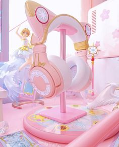 Cute Room Ideas, Cute Room Decor, Gamer Bedroom, Kawaii Games, Pink Games, Cute Headphones, Kawaii Bedroom, Otaku Room, Gaming Room Setup