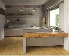 """Résultat de recherche d'images pour """"kitchen concrete"""""""