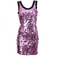 Purple Sequinned Dress