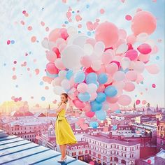 Farbenpracht – Kristina Makeeva und weit mehr als 99 Luftballons / Photo Boxed Cute Wallpapers, Wallpaper Backgrounds, Creative Photography, Portrait Photography, Magical Photography, Beauty Photography, Colour Photography, Artistic Photography, Colourful Balloons