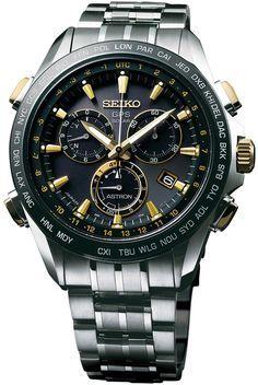 Seiko Astron Watch GPS Solar Chronograph Gold