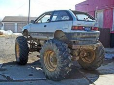 Nothing like a geo metro with tractor tires on it.....insured on the auto policy or on a farm policy?!?!?