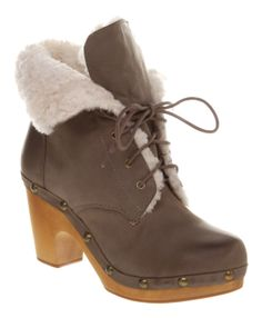 JCPenney WOMENS GRAY SHOE BOOT IN STORE CLEARANCE   Womens Jeffrey Campbell Erikson Sheepskin Clog Ankle Boot Grey Leather ...