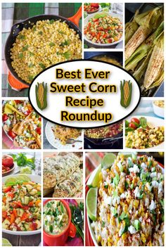 Sweet, crunchy, and hands-down everyone's favorite veggie! This sweet corn recipe roundup brings you tons of recipes you're going to love serving all year! #sweetcorn #cornsidedishes #reciperoundup #sweetcornreciperoundup #bbqsidedishes #vegetables #kudoskitchenbyrenee #cornonthecob #frozencorn #corn Brunch Recipes, Seafood Recipes, Beef Recipes, Vegetarian Recipes, Cooking Recipes, Sweet Corn Recipes, Vegetable Recipes, Chicken Corn Chowder, Grilled Corn Salad