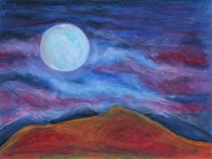 Harvest Moon 2 by Jeanne Fischer  A bright full moon moving among the clouds lighting up the hills below on a crisp autumn evening #landscape #fullmoon