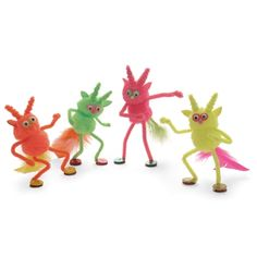 pipe cleaners and pompoms  make boogie monsters