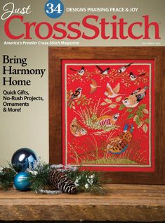 The December issue of Just CrossStitch is a must-have for the upcoming seasons, with fascinating articles, 34 needlework projects and overflowing cross-stitch inspiration. You will discover needle-art designs for Christmas and Thanksgiving, includi. Cross Stitch Pillow, Just Cross Stitch, Stitch Book, Cross Stitching, Cross Stitch Embroidery, Cross Stitch Designs, Cross Stitch Patterns, Crochet Slipper Pattern, Crochet Slippers