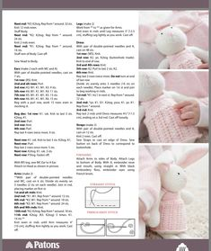 Continuation of Zoe bunny pattern Knitted Dolls Free, Knitted Bunnies, Animal Knitting Patterns, Crochet Dolls Free Patterns, Knitted Animals, Diy Teddy Bear, Baby Cardigan Knitting Pattern Free, Dou Dou, Knitting Dolls Clothes