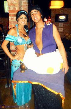 Aladdin & Jasmine - Homemade costumes for couples