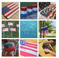 4th of July crafts - perfect for summer school unit!