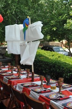 Awesome pirate boy birthday party table!   See more party ideas at CatchMyParty.com!