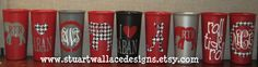 ALABAMA GAME DAY Cups  Set of 2  by StuartWallaceDesigns on Etsy, $10.00