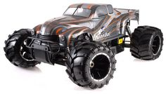 1/5th Giant Scale Exceed RC Hannibal 30cc Gas-Engine Remote Controlled Off-Road RC Monster Truck w/ 2.4Ghz TX 100% RTR (Orange)
