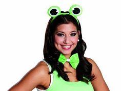 Zubehör zum Frosch Kostüm Fliege Haarreif zu Karneval Fasching