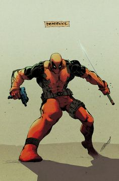 Deadpool - Colors by: Henrique Guimaraes the definition of awesome! Deadpool Love, Deadpool And Spiderman, Lady Deadpool, Deadpool Stuff, Deadpool Art, Batman, Marvel Comic Character, Comic Book Characters, Marvel Characters