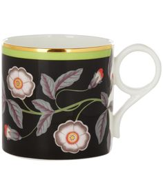 Black Wild Rose Mug, Wedgwood. Shop the latest Wedgewood collection at Liberty.co.uk