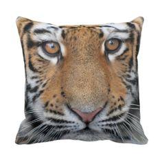 Tiger cub face throw pillow