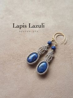Macrame Necklace, Lapis Lazuli, Knots, Drop Earrings, Personalized Items, Stone, Beautiful, Jewelry, Ear Rings