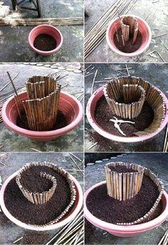 DIY Mini Spiral Garden @Jess Pearl Pearl Pearl Pearl Liu Johnson This is cool!