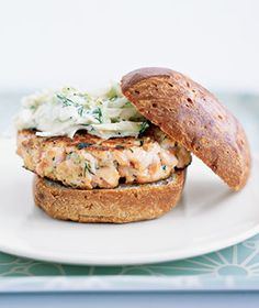 Salmon Burgers! Suggest you use canned salmon instead. Cheaper and you'll never know the difference!