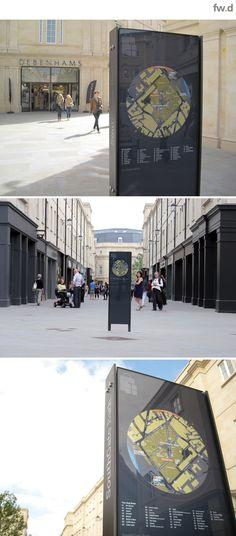 Southgate Bath wayfinding & signage design by fwd.