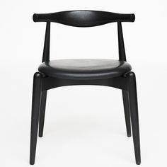 Wegner, CH 52 stol, sort med lædersæde.