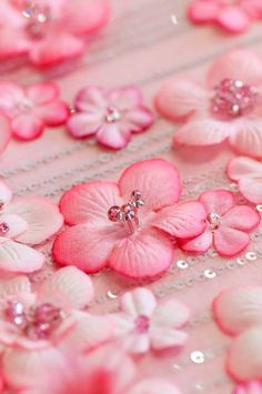 Pink flower petals....the not real variety...