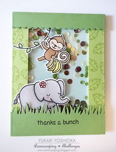 """Lawnscaping Challenge March Blog Hop: """"Thanks A Bunch"""" by Handmade by Yuki 