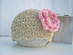 Crochet Baby Hat - Baby Girl Hat