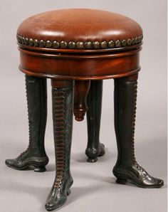 Antique library stool