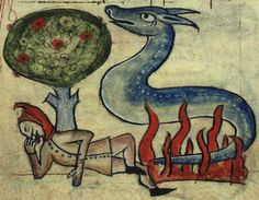 Bestiary.ca/*** Medieval Bestiary : Salamander is associated with Fire
