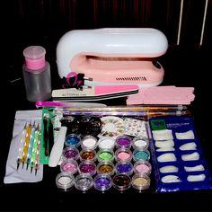 Acrylic nail paint kit
