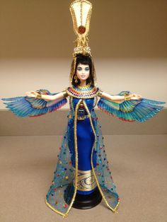 Isis – OOAK Egyptian Barbie Repaint  This outfit is very nicely done! Inspirational, would love to do a Egyptian motif sometime myself!